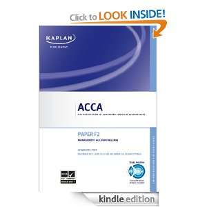 ACCA Complete Text   F2 Management Accounting Kaplan Publishings