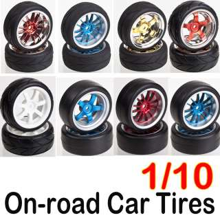 On road Car Tires Wheel Tire Auto 1/10 110 Rim & Tyre