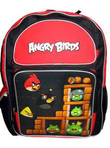 Angry Birds Bird Red Pig Large 16 Backpack Book Bag Sack School