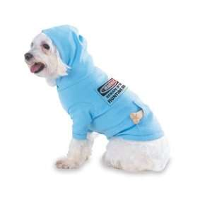 DOG Hooded (Hoody) T Shirt with pocket for your Dog or Cat MEDIUM Lt