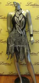 LATIN SALSA(BALLROOM) COMPETITION DRESS SIZE M (LS56)