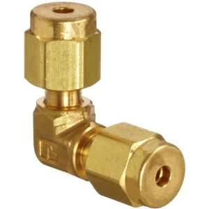 Parker A Lok 2EE2 B Brass Compression Tube Fitting, 90 Degree Elbow, 1