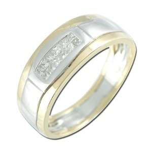 Gold Mens Diamond Ring Diamond quality AA (I1 I2 clarity, G I color