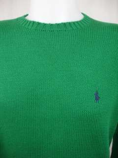 NWT Polo Ralph Lauren Mens Sweater Cotton Green New L