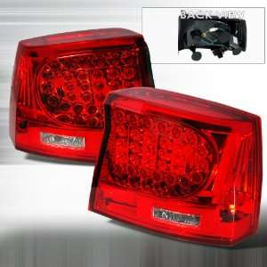 2005 2007 Dodge Charger Led Tail Lights Red Automotive