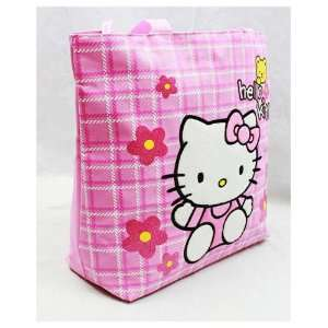 Sanrio Hello Kitty Pink Tote Bag with Yellow Bear Baby