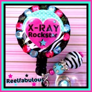 RAY TECH RETRACTABLE ID REEL BADGE HOLDER with Charm