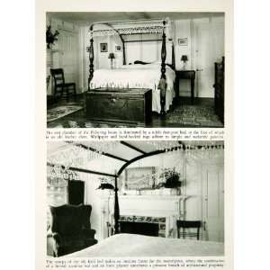 1950 Rotogravure Salem Massachusetts Pickering House Four Post Bed