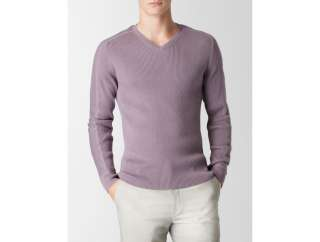 calvin klein mens ribbed v neck sweater