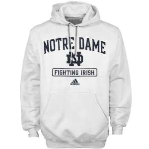 adidas Notre Dame Fighting Irish White Practicewear Hoody