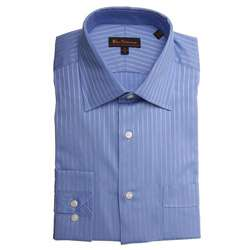 Ben Sherman Mens Tonal Striped Dress Shirt