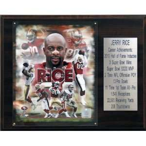NFL Jerry Rice San Francisco 49ers Career Stat Plaque