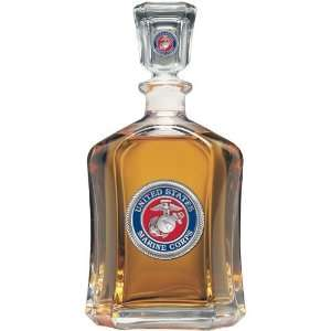Marine Corps Capitol Glass Decanter 24oz