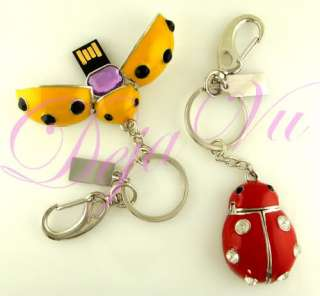 CRYSTAL LADYBUG USB FLASH DRIVE MADE WITH SWAROVSKI ELEMENTS