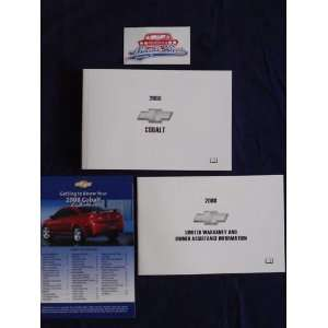 2008 Chevrolet Chevy Cobalt Owners Manual Chevrolet Motors Books