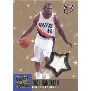 Zach Randolph Signed Fleer Ultra Stars Game Used Jersey Card