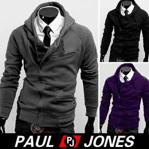 New Stylish Slim Fit Mens Jackets Coats 4Colors US Size XS,S,M,L