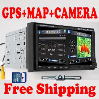 CAR IN DASH GPS DVD CD PLAYER TOUCH SCREEN RADIO CAM