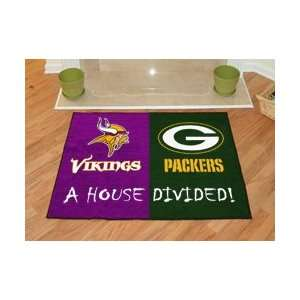 Minnesota Vikings / Green Bay Packers House Divided NFL
