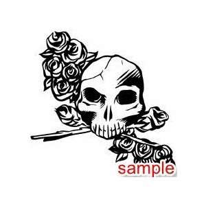 EVIL AND SKULLS SKULLS 30 10 WHITE VINYL DECAL STICKER