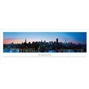 New York, New York City Skyline 37.25 x 8 Unframed Panoramic Wall