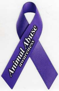 Animal Abuse Awareness Car Ribbon Magnet