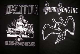 Sided LED ZEPPELIN T Shirt Swan Song Remains The Same
