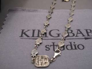 King Baby 3D Crowned Heart Motif Chain Necklace 24 inch