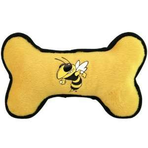Georgia Tech Yellow Jackets Gold Navy Blue Plush Bone Dog