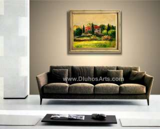 COUNTRSIDE VILLA 28 ORIGINAL MODERN ART Oil Painting ANDRE DLUHOS
