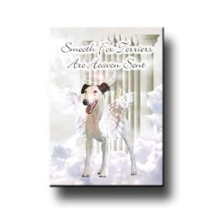 Smooth Fox Terrier Heaven Sent Fridge Magnet Everything