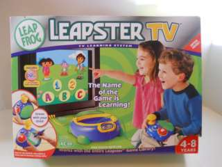 LEAP FROG LEAPSTER TV with Dora Game GREAT LEARNING TOY
