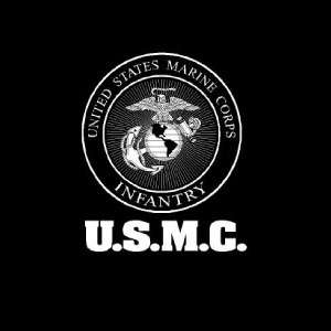 USMC MARINES INFANTRY T SHIRT BLACK ** M XXXL **
