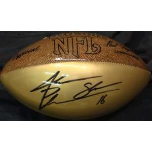 Jake Plummer Autographed Football   gold panel .  Sports