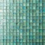 Iridescent Green Base Glass Mosaic Tile G09
