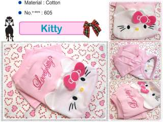 Small Dog Clothes,Hello Cutie Kitty Costume Shirts,605