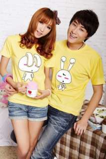 Summer men and women couple short sleeved T shirt in 6 colors S100