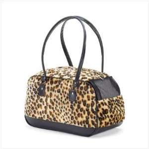 Small Leopard Print Pet Carrier