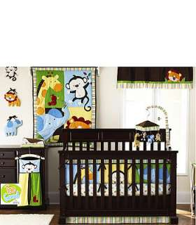 Too Good by Jenny McCarthy Jungle Jubilee 9 Piece Crib Bedding Set