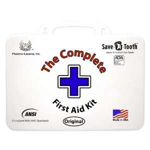 The Complete First Aid Kit   Includes Save A Tooth, Exceeds ANSI