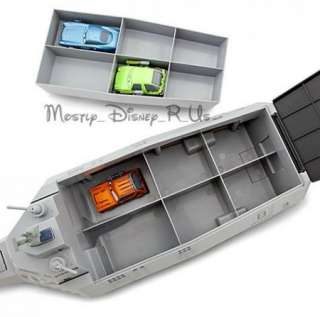 Pixar Cars 2 Combat Ship Play Set W/ 3 Diecast Cars Collector Case