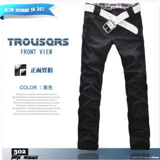 Mens Korean Casual Long Straight Trousers pants
