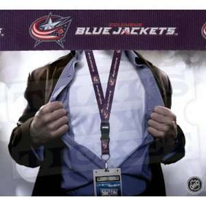 Columbus Blue Jackets NHL Lanyard Key Chain with Ticket