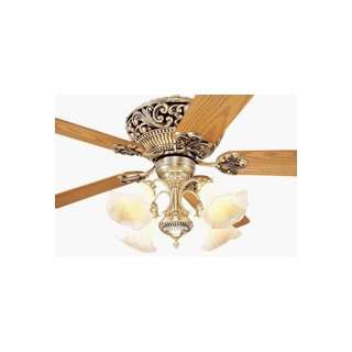 Monte Carlo 5WA52AB Waverly Ceiling Fan Antique Brass Finish with Oak