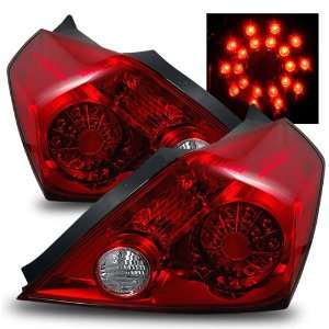 08 11 Nissan Altima Coupe Red/Clear LED Tail Lights Automotive
