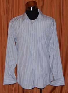 BEN SHERMAN WHITE BLUE GREEN SHIRT MENS 17 1/2 34 35 XL