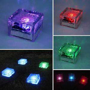 NEW Solar Color Changing Crystal Glass LED Ground Light
