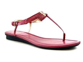 Nine West Womens Shoes Flat Thongs Sandals Pink 9.5