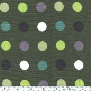 45 Wide Corduroy Multi Dot Olive Fabric By The Yard