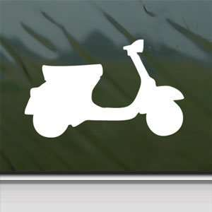 VESPA SCOOTER White Sticker Car Laptop Vinyl Window White Decal